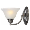 Portfolio 7-1/2-in W 1-Light Brushed Black Chrome Arm Wall Sconce