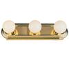 Project Source 3-Light Brass Bathroom Vanity Light