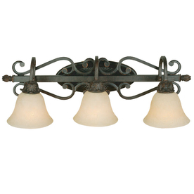 Shop Portfolio 3-Light Bronze Bathroom Vanity Light at Lowes.com