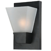 Portfolio 5.52-in W 1-Light Matte Black Pocket Hardwired Wall Sconce