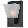 Portfolio 5.52-in W 1-Light Matte Black Pocket Hardwired Wall Sconce