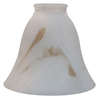 5-7/8-in Alabaster Vanity Light Glass