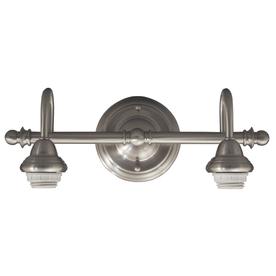 Portfolio D&C 2-Light Brushed Nickel Bathroom Vanity Light
