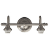 Portfolio D&C 2-Light Brushed Nickel Bathroom Vanity Light