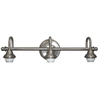 Portfolio D&C 3-Light Brushed Nickel Bathroom Vanity Light