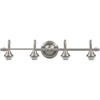 Portfolio D&C 4-Light Brushed Nickel Bathroom Vanity Light