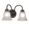 Project Source 2-Light Tavern Oil-Rubbed Bronze Bathroom Vanity Light