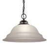 Project Source Fallsbrook 15-in W Pendant Light with Frosted Shade