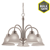 Project Source Fallsbrook 5-Light Brushed Nickel Chandelier