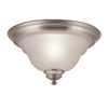 Portfolio 13-in Brushed Nickel Ceiling Flush Mount