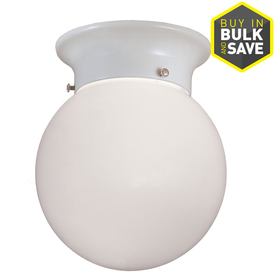 Project Source 5.83-in W White Ceiling Flush Mount Light