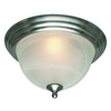 Project Source 10-in W Brushed Nickel Ceiling Flush Mount