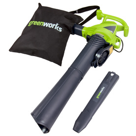 Greenworks 12-Amp 380-CFM 230-MPH Light-Duty Corded Electric Leaf Blower with Vacuum Kit