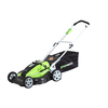 Greenworks 19 inch - 36 Volt Lead Acid battery powered lawn mower with 3 in 1 capabilities, mulch, bag, side discharge