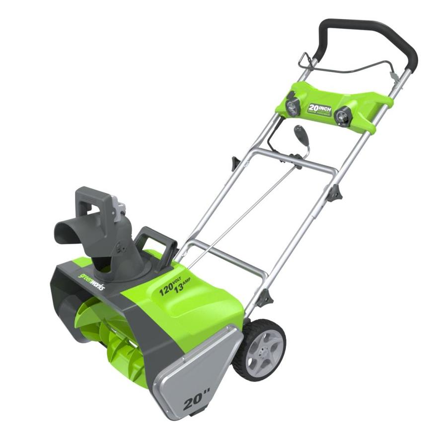 Shop Greenworks 13-Amp 20-in Corded Electric Snow Blower at Lowes.com