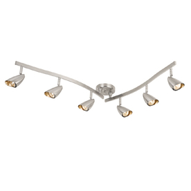 Portfolio Argon 6-Light 52.36-in Brushed Steel Fixed Track Light Kit
