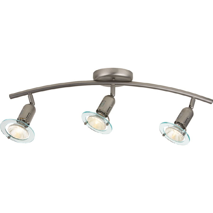 contempra 3 light brushed nickel fixed track light kit at. Black Bedroom Furniture Sets. Home Design Ideas