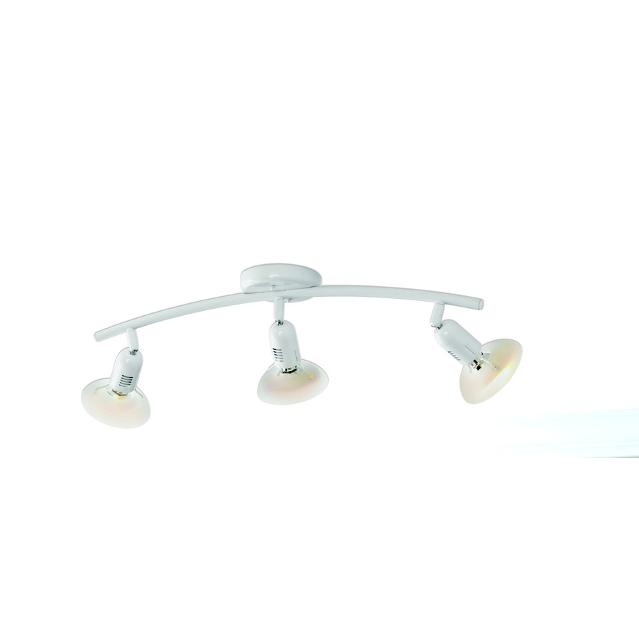 shop style selections space 3 light white fixed track