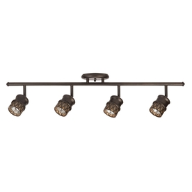 allen + roth Eva 4-Light 32-in Oil Rubbed Bronze Fixed Track Light Kit