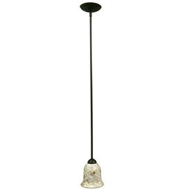 Portfolio 6-in W Light Bronze Mini Pendant Light