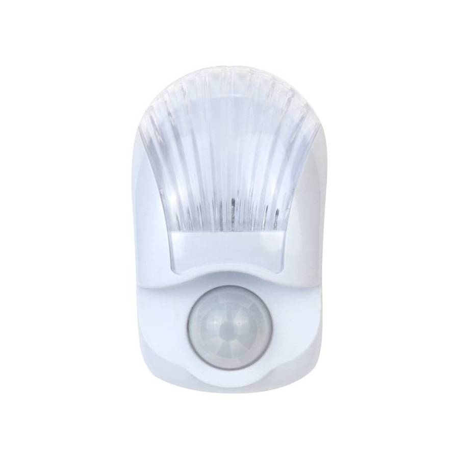 clear led night light with motion sensor and auto on off at. Black Bedroom Furniture Sets. Home Design Ideas