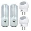 Style Selections 4-Pack White LED Night Light with Motion Sensor and Auto On/Off