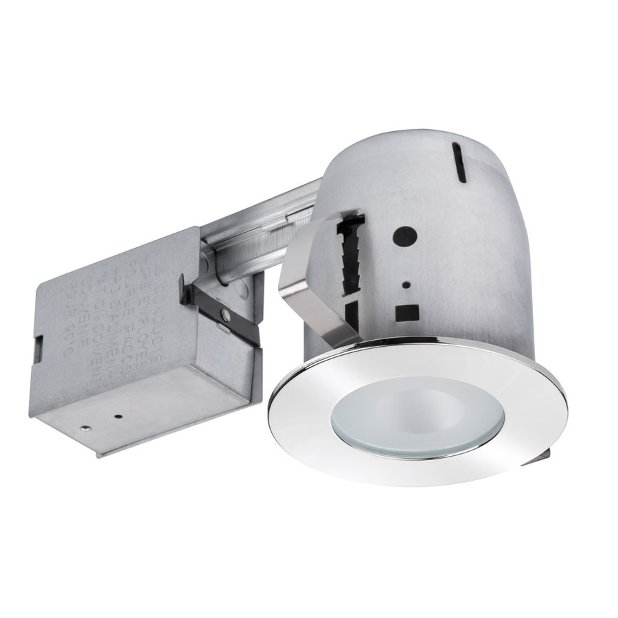 Recessed Lighting Utilitech : Utilitech polished chrome with frosted glass remodel
