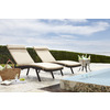 allen + roth Aluminum Stackable Folding Patio Chaise Lounge Chair