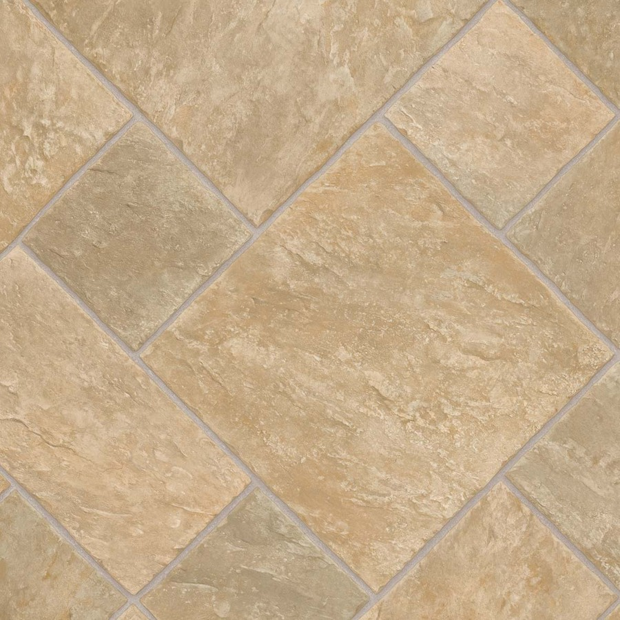 Shop ivc w venturi 532 tile low gloss finish sheet vinyl at - Vinyl tile at lowes ...