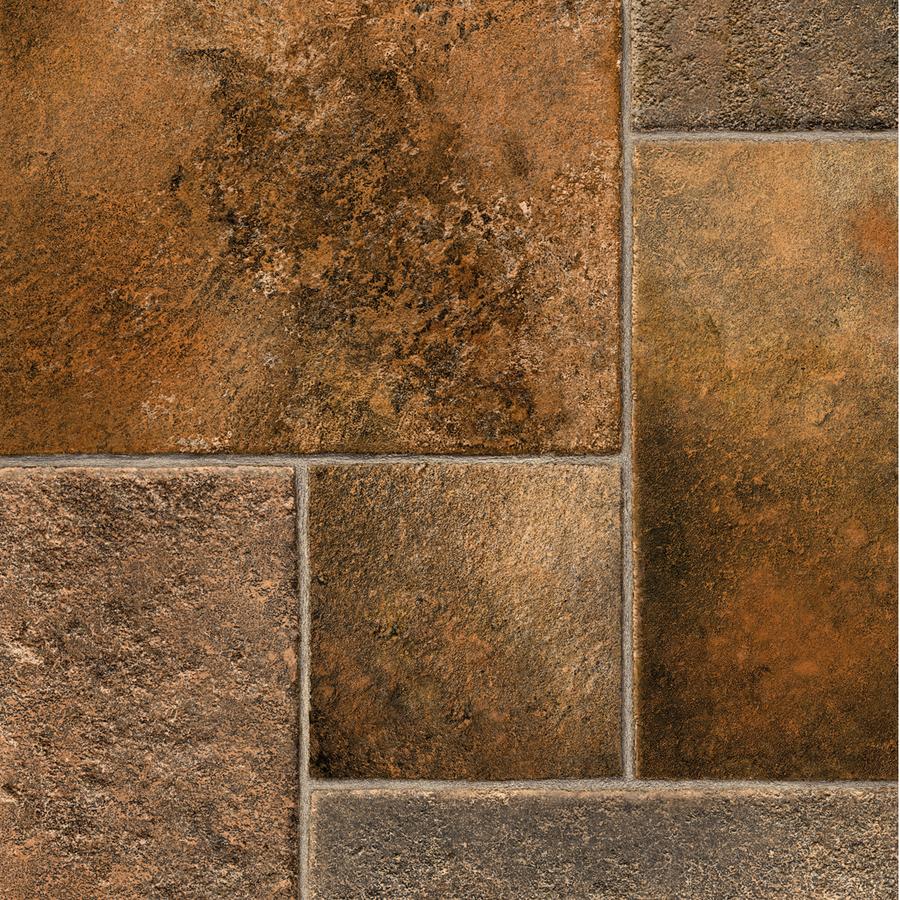 Shop ivc 12 ft w phoenix 947 tile low gloss finish sheet for Sheet vinyl flooring