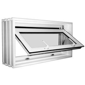 16 1 2 tilting vinyl double pane basement hopper window at