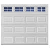 Pella Traditional Series 108-in x 84-in Insulated White Single Garage Door with Windows