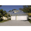 Pella Traditional Series 192-in x 84-in Insulated White Double Garage Door