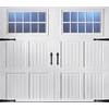 ReliaBilt 8-ft x 7-ft Carriage House Insulated White Garage Door with Windows
