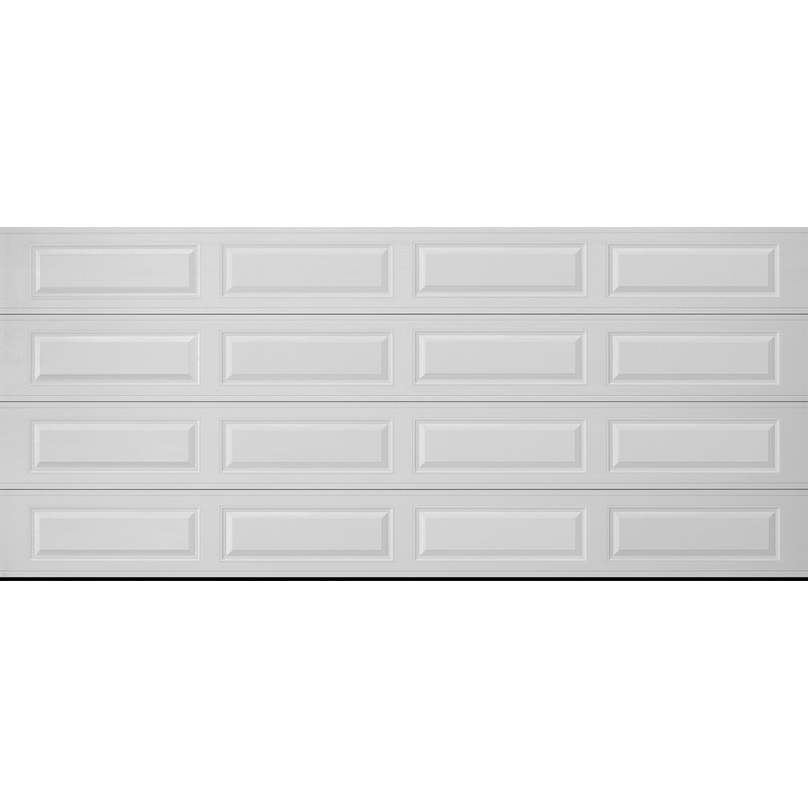 Series 16 ft x 7 ft insulated white double garage door at lowes com