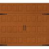 Pella Carriage House Series 108-in x 84-in Insulated Golden Oak Single Garage Door