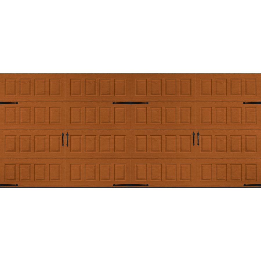 Shop pella carriage house 16 ft x 7 ft insulated golden for Insulated garage doors