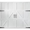Pella Carriage House Series 96-in x 84-in White Single Garage Door