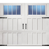 ReliaBilt Carriage House Series 108-in x 84-in Insulated White Garage Door with Windows