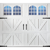 Pella Carriage House Series 108-in x 84-in Insulated White Single Garage Door with Windows