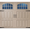 Pella Carriage House Series 96-in x 84-in Insulated Sandtone Single Garage Door with Windows