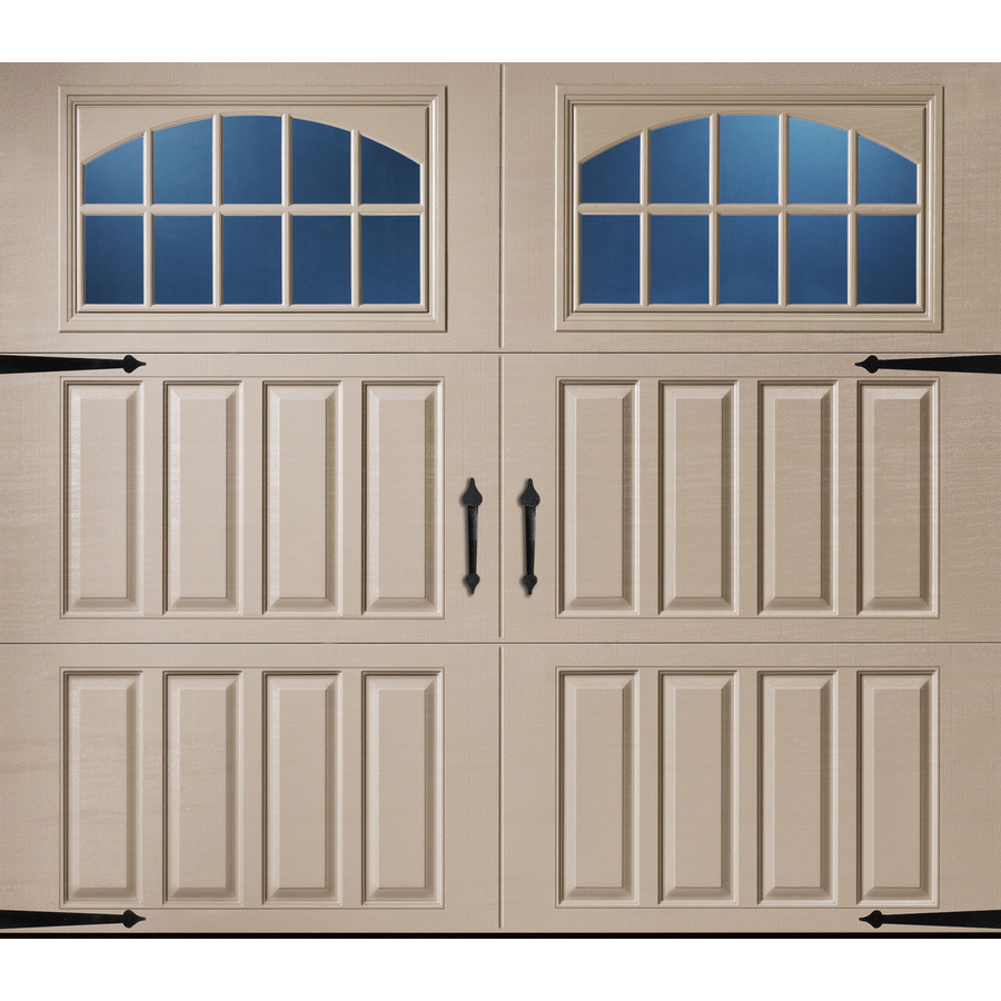 Shop pella carriage house series 9 ft x 7 ft insulated for Insulated garage doors
