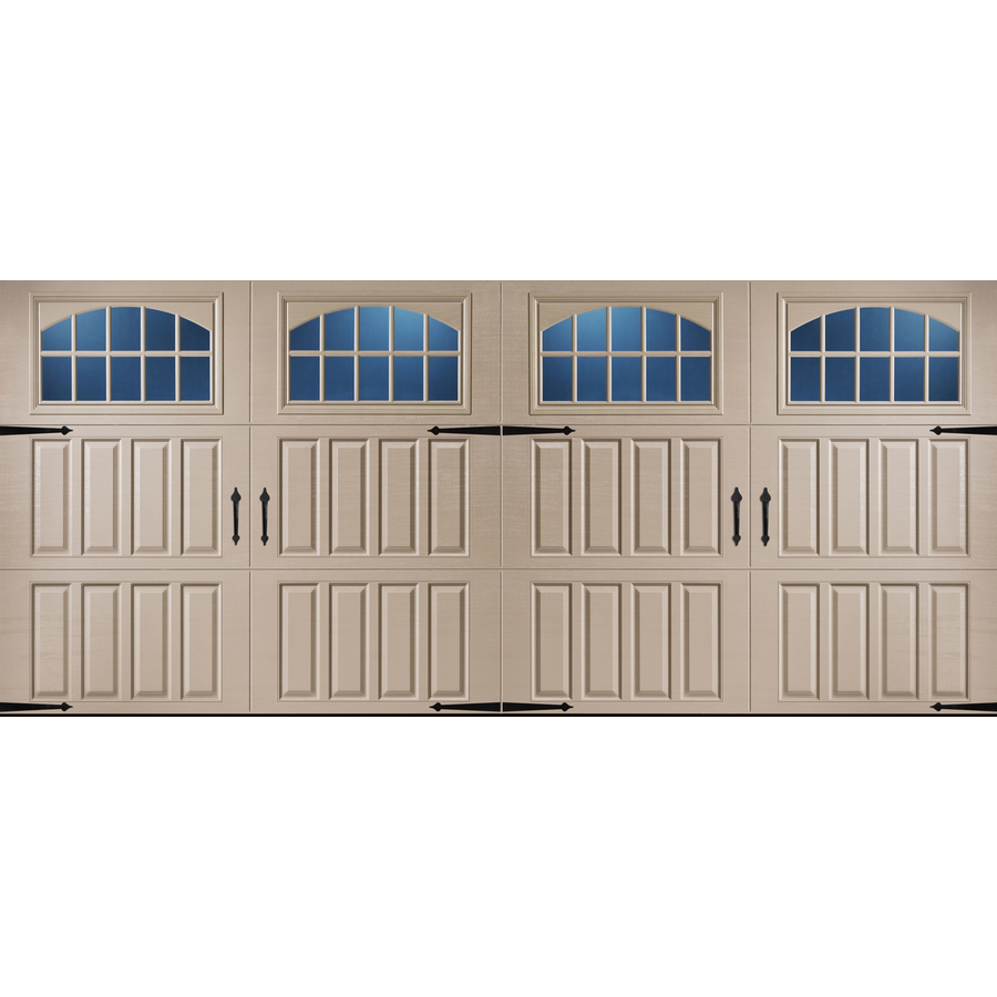 Shop pella carriage house series 16 ft x 7 ft insulated for Insulated double doors