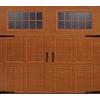 Pella Carriage House Series 96-in x 84-in Insulated Golden Oak Single Garage Door with Windows