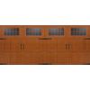 Pella Carriage House Series 192-in x 84-in Insulated Golden Oak Double Garage Door with Windows