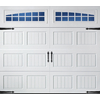 Pella Carriage House Series 96-in x 84-in Insulated White Single Garage Door with Windows