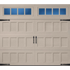 Pella Carriage House Series 96-in x 84-in Insulated Sandtone Garage Door with Windows