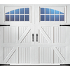 Pella Carriage House Series 96-in x 84-in White Garage Door with Windows