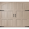 Pella Carriage House Series 96-in x 84-in Insulated Sandtone Single Garage Door