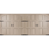 Pella Carriage House Series 192-in x 84-in Insulated Sandtone Double Garage Door